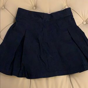 Girls navy uniform skirt